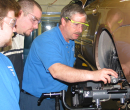 ATC Automotive Instructor and Students
